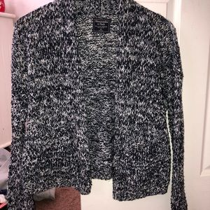 Abercrombie & Fitch Navy Blue/White Knit Cardigan
